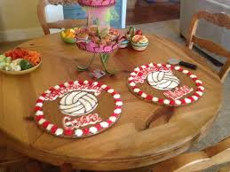 Volleyball Party Decorations Cute Volleyball Birthday Cookie Cakes I Had For A Party