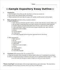 expository essay template word pdf documents  expository essay outline template