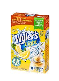 Wyler S Light Strawberry Lemonade Ingredients Wylers Light Singles Water Drink Mix To Go Powder Packets Half Iced Tea Half Lemonade 8 Count