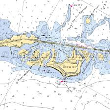 Florida Duck Key Zoomed In Nautical Chart Decor