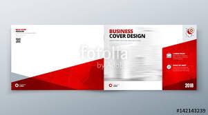 landscape brochure design red corporate business template for brochure report catalog magazine book booklet