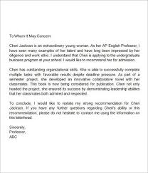 Sample College Recommendation Letters How To Write Psychology
