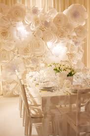 White Paper Flower Wall The White Wedding Craft And Couture