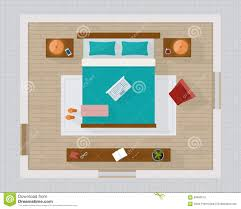 master bedroom top view. Brilliant Bedroom Download Bedroom With Furniture Overhead Top View Stock Vector   Illustration Of Curtain Interior Intended Master View