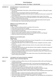 Sales Specialist Resume Examples Product Sales Specialist Resume Samples Velvet Jobs 5
