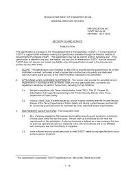 Security Guards Resume Adorable Level One Security Guard Resume Resume Free Resume Download