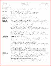 International Resume Format Memo Example