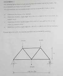 Single Angle Design Solved Can Someone Teach Me How To Answer The Steel Truss