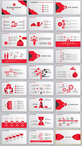 Red Ppt 27 Red Business Report Powerpoint Template