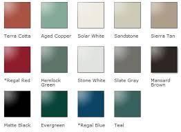 Standing Seam Roof Color Chart Metal Roof Color Chart Waupaca Wi Steel Metal Roofing