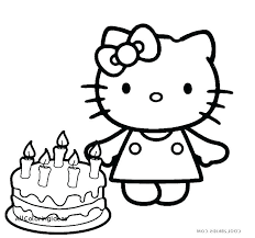 Coloring Page Of A Birthday Cake Pages Printable Colo Klubfogyas