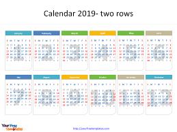 printable 6 month calendar 2019 printable calendar 2019 template free powerpoint templates