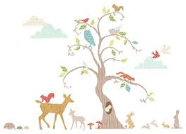 Small Picture Woodland Tree Wall Decal Nursery Decor Kit Contemporary Wall