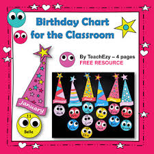 Birthday Chart Birthday Charts For The Classroom Free And Editable