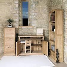 aston solid oak hidden. Mobel Oak Hidden Home Office Desk Unit Aston Solid