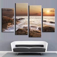 online shop  pcsset modern canvas art rocky sea canvas wall