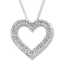 diamond heart necklaces clipart