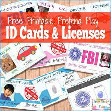 Printable Identification Card Child Id Card Template Free Lovely Free Printable Licenses And Id