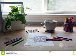 desk in front of window. Simple Front Download Desk In Front Of Window With Art Stock Image  Of Front  Window O