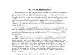 Write An Essay About Your First Day At School Short Essay On My