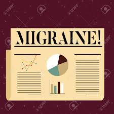 Conceptual Hand Writing Showing Migraine Concept Meaning Recurrent Headache In One Side Of Head Nausea And Disturbed Vision Colorful Layout Design