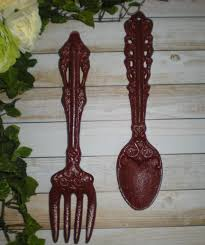 Large Fork And Spoon Wall Decor 2014 Wall Decor Ideas Tuscan Red Large Fork And Spoon Home