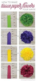 tissue paper flower centerpiece ideas learn how to make four different types of tissue paper flowers