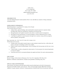 Research Resume Samples Resume Marketing Analyst Resume Sample