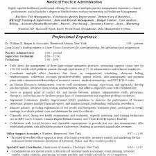Medical Practice Administrator Sample Resume