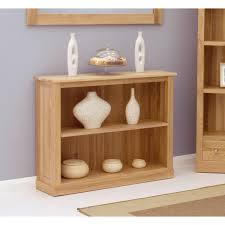 baumhaus mobel solid oak extra. Baumhaus Mobel Solid Oak Low Bookcase COR01B Extra
