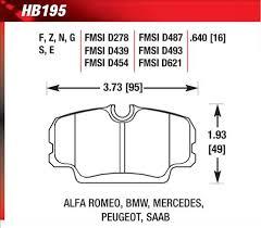 Hawk Performance Ht 10 Motorsport Brake Pads Hb195s 640