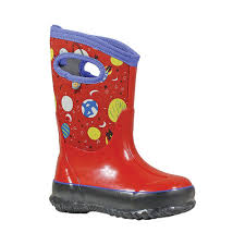 Childrens Bogs Classic Size 1 M Red Multi Classic Space
