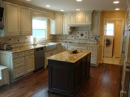 L Shaped Kitchen Remodel Picture Of White L Shaped Kitchen Design With Black Island