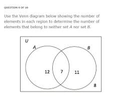 Elements Of A Venn Diagram Solved Use The Venn Diagram Below Showing The Number Of E