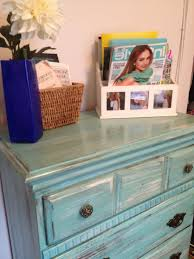 distressing old furniture. Distressed Turquoise Furniture Distressing Old With Paint: Diy Tutorial | Trends D