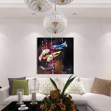 50x50cm hd goldfish canvas oil painting frameless home art paint decor