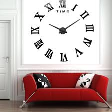Decorative Wall Clocks For Living Room Popular Roman Numeral Wall Clock Buy Cheap Roman Numeral Wall