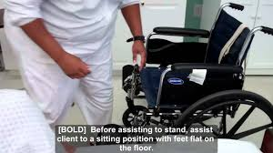 cna essential skills transfer from bed to wheelchair using transfer belt 4 32 you