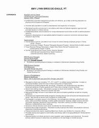 Physical Therapy Resume Sample Inspirational 49 Inspirational