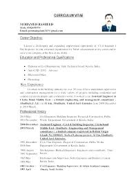 Objective For Civil Engineer Resume