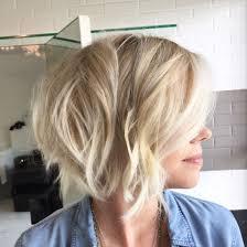 Short Hair Cut Textured Bob Blonde