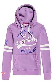 Superdry Womens Track And Field Hood Sweatshirt Amazon Co