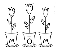 Small Picture Mothers day flowers coloring pages for kids printable free