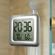 large digital wall clocks waterproof shower clock timer watch suction cups bathroom kitchen table hygrometer thermometer large digital wall clock in