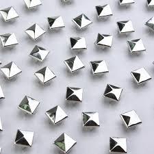metal studs for clothing. set 100 pyramid rivets 12mm silver metal studs clothes shoes bags for clothing i