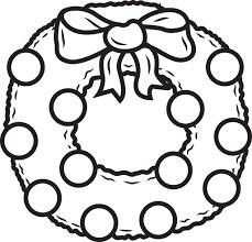 Free Printable Christmas Wreath Coloring Page For Kids 1 Supplyme