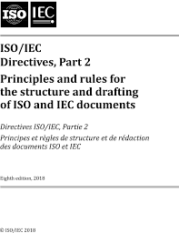 Isoiec Directives Part 2 Principles And Rules For The Structure