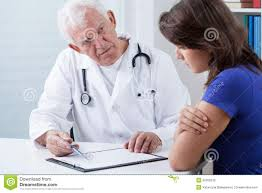 doctor interviewing patient related keywords suggestions doctor doing medical interview stock photo image 50209330