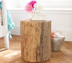 Collection in Tree Stump Nightstand Stump Side Table Pottery Barn Kids
