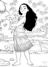 Print Princess Moana Disney Coloring Pages Preschool 2017 18